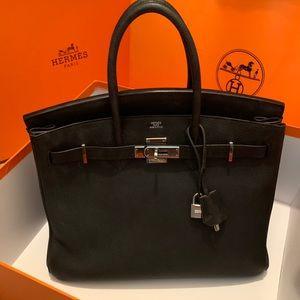 d11cea34ffd Hermes Bags - Authentic HERMES Togo Birkin 35 Black